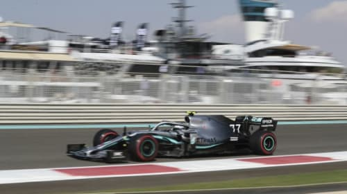 Bottas fastest in opening two practice sessions despite crashing with Grosjean