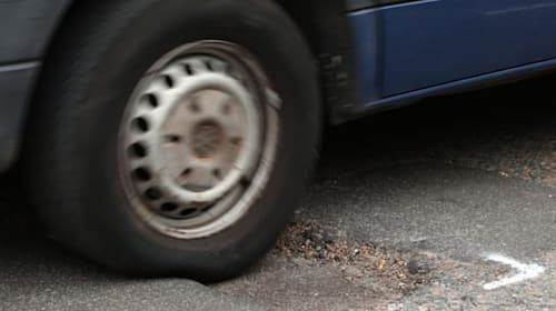 Reduced traffic wasn't enough to protect British motorists from potholes last year