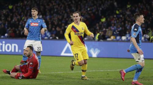 Griezmann equaliser earns Barcelona draw at Napoli