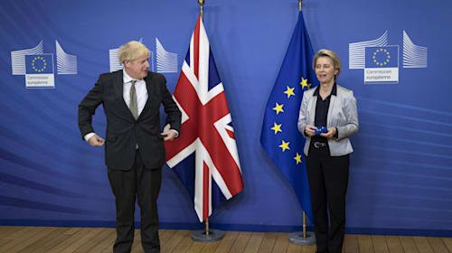 Hopes rise for UK-EU trade deal but Johnson warns two sides remain far apart