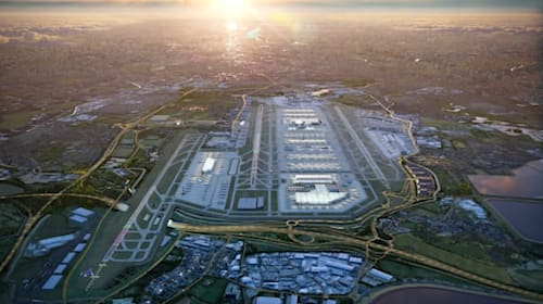 Rivers and roads to be re-routed under Heathrow Airport expansion plans
