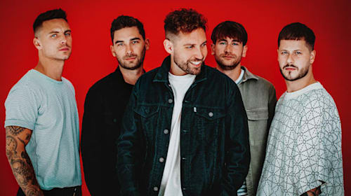 Rock band You Me At Six celebrate chart success