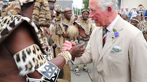 Prince of Wales meets Zulu royals to mark Battle of Rorke's Drift anniversary