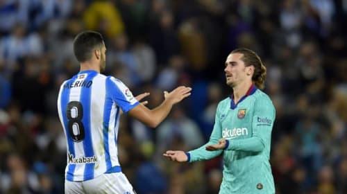 Barcelona's winning streak comes to an end as Sociedad claim Anoeta draw