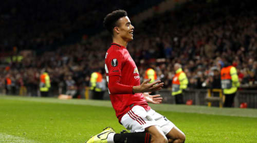 Solskjaer hails 'natural footballer' Greenwood after Europa League brace