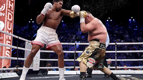 In pictures – Anthony Joshua regains world heavyweight titles