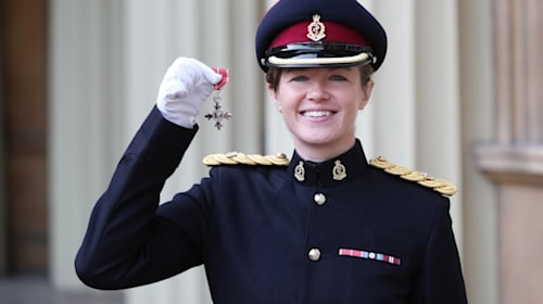 Major who led record-breaking women across Antarctica hailed by Prince of Wales