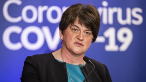 Arlene Foster backs health minister after criticism over coronavirus response
