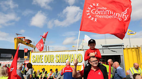 Harland and Wolff shipyard should be renationalised, say unions