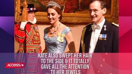 英キャサリン妃、晩餐会で着用したドレスが「最悪」と珍しく批判の的に