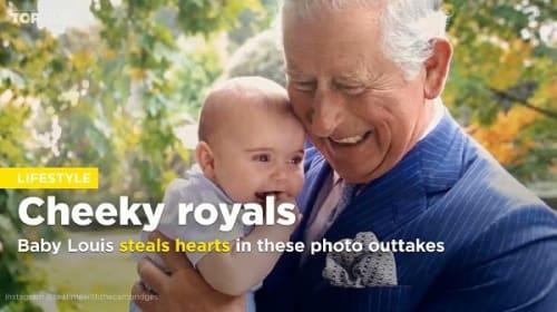 チャールズ皇太子、孫のルイ王子にメロメロな瞬間を捉えた画像が公開