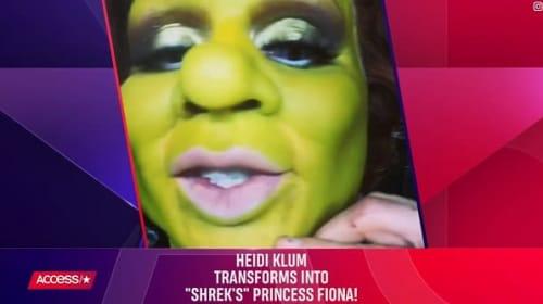 「ハロウィンの女王」ハイディ・クルム、今年は『シュレック』フィオナ姫の見事な仮装を披露!