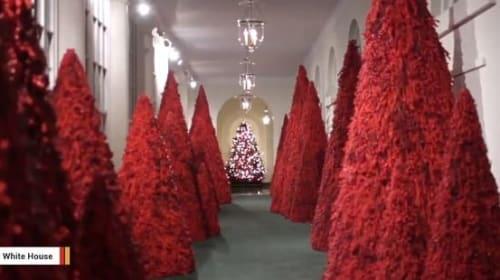ホワイトハウス、メラニア夫人が手掛けたクリスマスの装飾を披露!【映像】