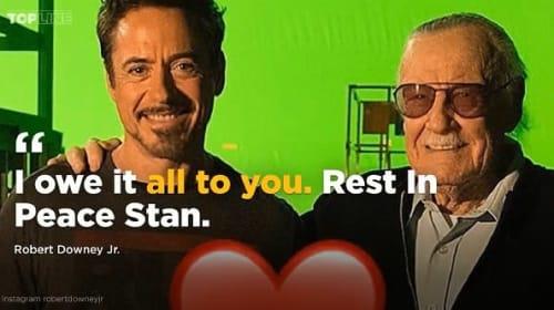 スタン・リーの訃報に、マーベルのスーパーヒーローを演じた大物セレブから追悼の声続々
