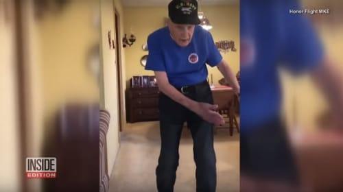 91歳のおじいちゃんが流行りのダンスを披露し話題に【映像】
