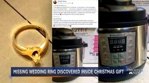 新品の調理家電の箱を開けたら誰かの結婚指輪が…→フェイスブックで持ち主を発見!
