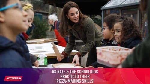 英キャサリン妃が子供たちとピザ作りに挑戦!「女王はピザを食べた事がありますか?」との質問に答える一幕も