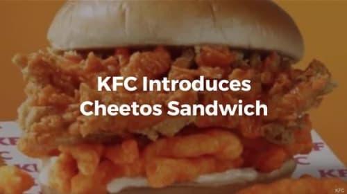 米KFCからチートスとチキンを挟んだ「チートスサンドウィッチ」が登場し話題に