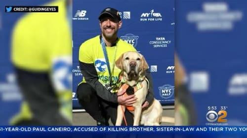 視覚障害の男性が、盲導犬とNYCハーフマラソンを初完走!