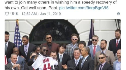 オバマ前大統領が、銃撃された元レッドソックスのオルティーズ氏にメッセージ「早い回復を祈る」