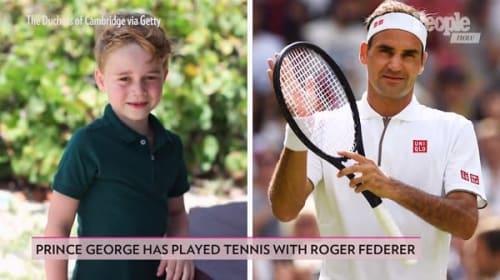 英ジョージ王子、フェデラーから直々にテニスのレッスンを受ける