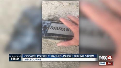 ハリケーン「ドリアン」が接近した米フロリダ州の浜辺に、コカインの塊が打ち上げられる