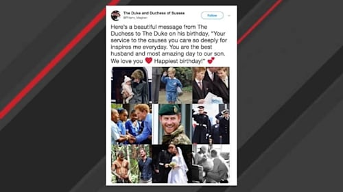 英ヘンリー王子、35歳の誕生日を迎えメーガン妃から祝福メッセージ