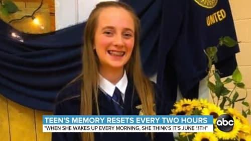 16歳の米国人女性、記憶が2時間毎にリセットされてしまうように…