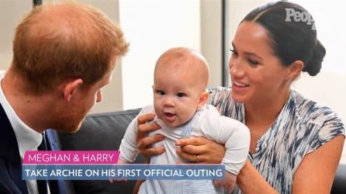 父親そっくり!英ヘンリー王子とメーガン妃の第一子、アーチー君が初公務