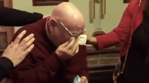 Lonely pensioner has BBC viewers in tears with reaction to Christmas tree gift