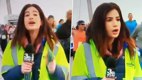 TV reporter spanked during live broadcast is left feeling 'violated' and 'embarrassed'