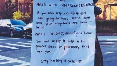 新型コロナで買い物に行けない近所の高齢者への貼り紙に賞賛の声