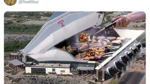 テキサス・レンジャーズの新球場がツイッターでネタの餌食に・・・