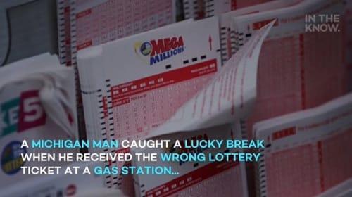 店員のうっかりミスのお陰で、宝くじを高額当選した男性