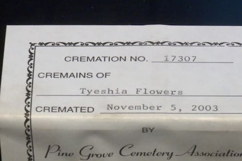 Woman finds cremated remains while cleaning out her office