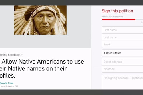 Native Americans rejected from Facebook, 'odd' names to