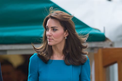 Duchess Kate wears coral Goat dress in London - AOL Lifestyle