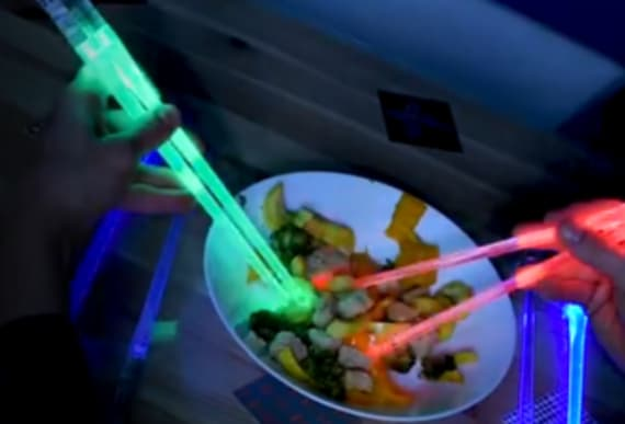 These LED chopsticks will light up your world
