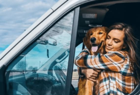 24-year-old lives in van traveling the country with her dog after quitting her job and