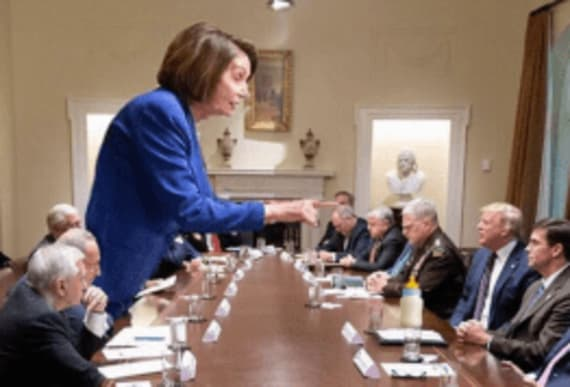 This photo of Nancy Pelosi and Trump will be remembered for centuries to come