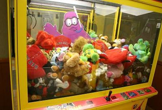 Boy becomes trapped in claw machine after climbing inside to get teddy bear