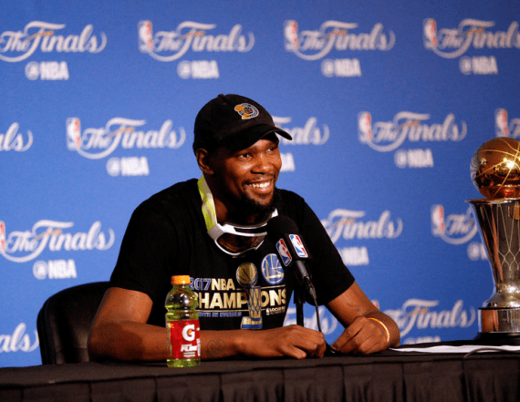 bff6a5a47092 Kevin Durant sends a message to Rihanna following the Warriors  big win -  AOL Entertainment