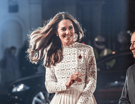 013f1410294 Kate Middleton dazzles in dress with thigh-high slit