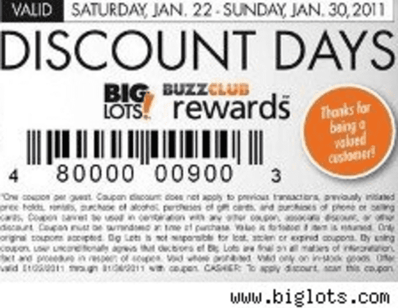 Big Lots Coupon For 20 Off Aol Finance
