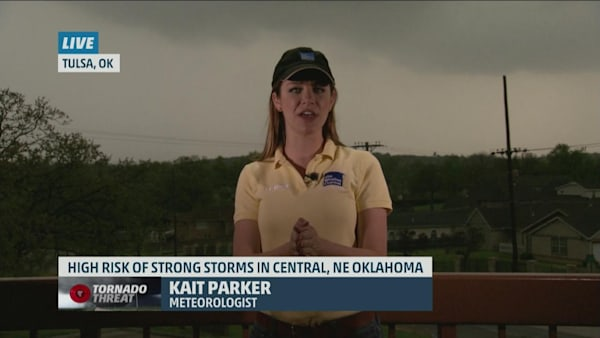 Kait Parker Live in Tulsa, Oklahoma Where a Tornado Could