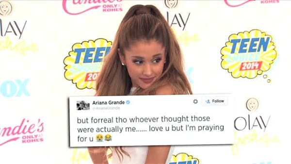 Ariana Grande Hits out At Nude Photo Leak
