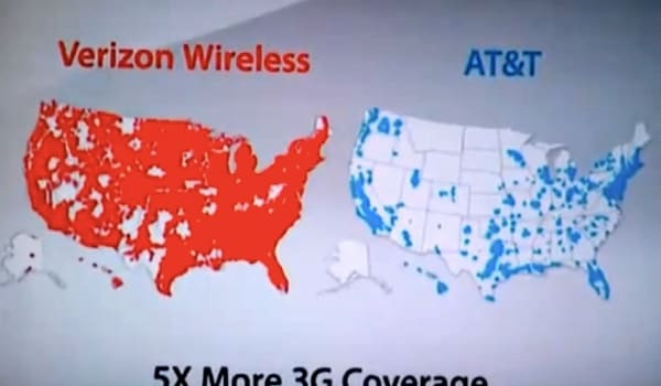 AT&T sues Verizon over 'there's a map for that' ads