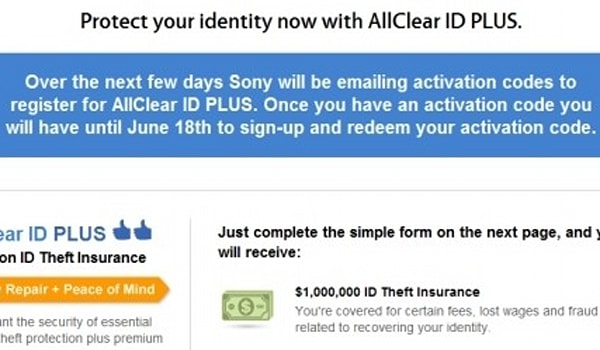 Sony offers free Debix identify theft protection for PSN and
