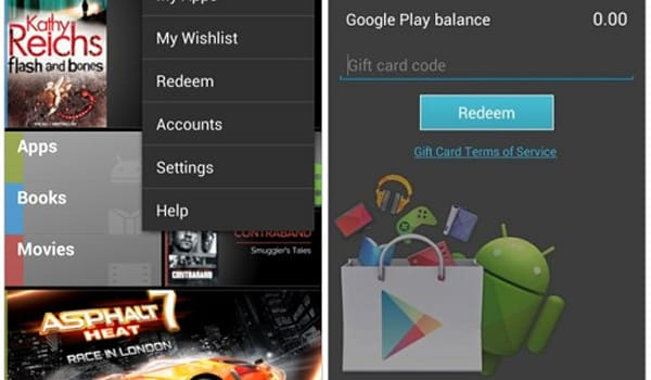 Updated Google Play app reveals gift card support, wish list coming