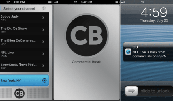 Commercial Break: an app that tells you exactly when the ads